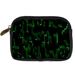 Abstract Art Background Green Digital Camera Cases