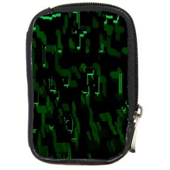 Abstract Art Background Green Compact Camera Cases