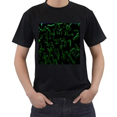 Abstract Art Background Green Men s T Shirt (black)