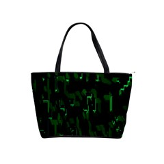 Abstract Art Background Green Shoulder Handbags