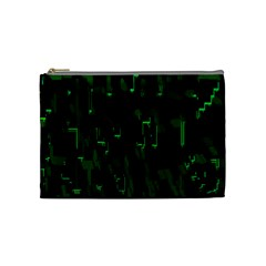 Abstract Art Background Green Cosmetic Bag (medium)