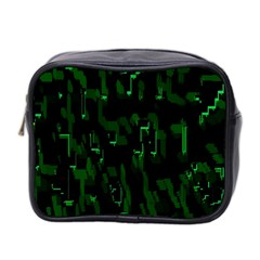 Abstract Art Background Green Mini Toiletries Bag 2 Side