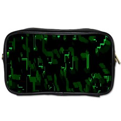 Abstract Art Background Green Toiletries Bags
