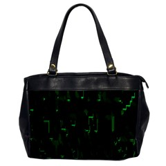 Abstract Art Background Green Office Handbags