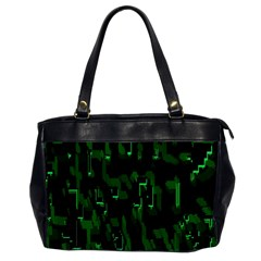 Abstract Art Background Green Office Handbags (2 Sides)