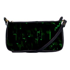Abstract Art Background Green Shoulder Clutch Bags
