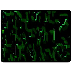 Abstract Art Background Green Fleece Blanket (large)