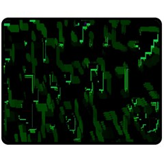 Abstract Art Background Green Fleece Blanket (medium)