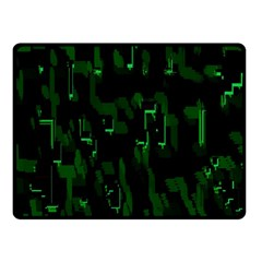 Abstract Art Background Green Fleece Blanket (small)