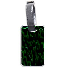 Abstract Art Background Green Luggage Tags (two Sides)