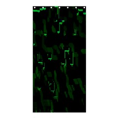 Abstract Art Background Green Shower Curtain 36  X 72  (stall)