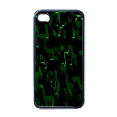 Abstract Art Background Green Apple Iphone 4 Case (black)