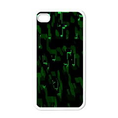 Abstract Art Background Green Apple Iphone 4 Case (white)