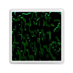 Abstract Art Background Green Memory Card Reader (square)