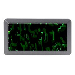 Abstract Art Background Green Memory Card Reader (mini)