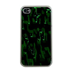 Abstract Art Background Green Apple Iphone 4 Case (clear)