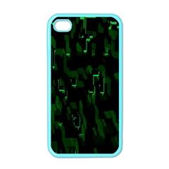 Abstract Art Background Green Apple Iphone 4 Case (color)