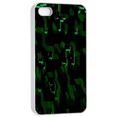 Abstract Art Background Green Apple Iphone 4/4s Seamless Case (white)