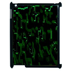 Abstract Art Background Green Apple Ipad 2 Case (black)