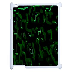 Abstract Art Background Green Apple Ipad 2 Case (white)