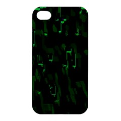 Abstract Art Background Green Apple Iphone 4/4s Premium Hardshell Case