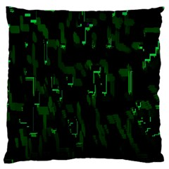 Abstract Art Background Green Large Cushion Case (one Side)