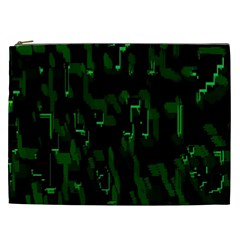 Abstract Art Background Green Cosmetic Bag (xxl)