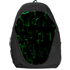 Abstract Art Background Green Backpack Bag