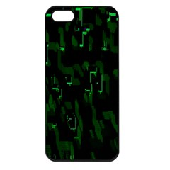 Abstract Art Background Green Apple Iphone 5 Seamless Case (black)