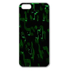 Abstract Art Background Green Apple Seamless Iphone 5 Case (clear)