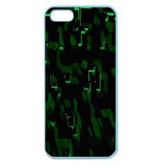 Abstract Art Background Green Apple Seamless Iphone 5 Case (color)