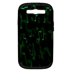 Abstract Art Background Green Samsung Galaxy S Iii Hardshell Case (pc+silicone)