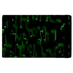 Abstract Art Background Green Apple Ipad 2 Flip Case