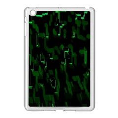 Abstract Art Background Green Apple Ipad Mini Case (white)