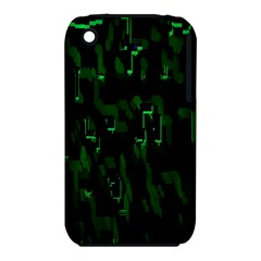 Abstract Art Background Green Iphone 3s/3gs