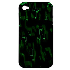 Abstract Art Background Green Apple Iphone 4/4s Hardshell Case (pc+silicone)