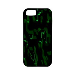 Abstract Art Background Green Apple Iphone 5 Classic Hardshell Case (pc+silicone)