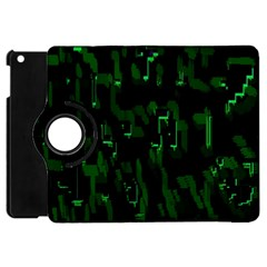 Abstract Art Background Green Apple Ipad Mini Flip 360 Case