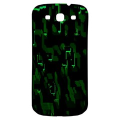 Abstract Art Background Green Samsung Galaxy S3 S Iii Classic Hardshell Back Case
