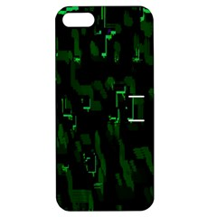 Abstract Art Background Green Apple Iphone 5 Hardshell Case With Stand
