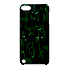 Abstract Art Background Green Apple Ipod Touch 5 Hardshell Case With Stand