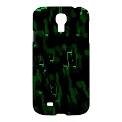 Abstract Art Background Green Samsung Galaxy S4 I9500/i9505 Hardshell Case