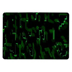 Abstract Art Background Green Samsung Galaxy Tab 10 1  P7500 Flip Case