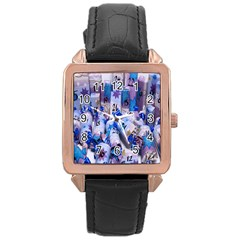 Advent Calendar Gifts Rose Gold Leather Watch