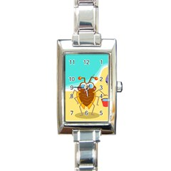 Animal Nature Cartoon Bug Insect Rectangle Italian Charm Watch