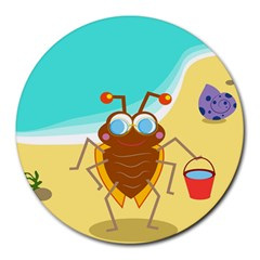 Animal Nature Cartoon Bug Insect Round Mousepads
