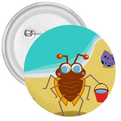 Animal Nature Cartoon Bug Insect 3  Buttons
