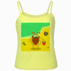 Animal Nature Cartoon Bug Insect Yellow Spaghetti Tank