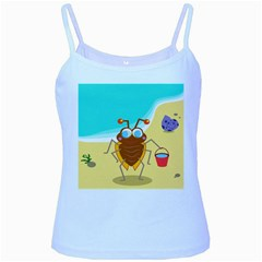 Animal Nature Cartoon Bug Insect Baby Blue Spaghetti Tank