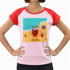 Animal Nature Cartoon Bug Insect Women s Cap Sleeve T Shirt